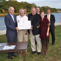Press event photo: Falmouth recipients and partners