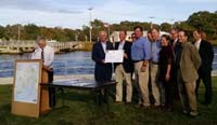 Press event photo: Red Brook recipients and partners